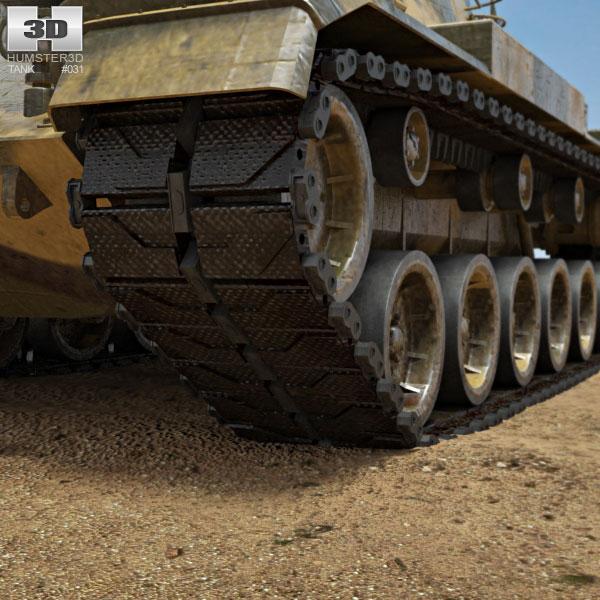 3d model m60a3 tank m60 gun - m60a3_mbt_3dmodel by es3dstudios