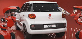 custom 3d Fiat Bubbles