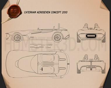 Caterham AeroSeven 2013 Blueprint