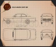 Volvo Amazon coupe 1961 Blueprint