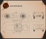 Aston Martin DBR1 1957 Blueprint