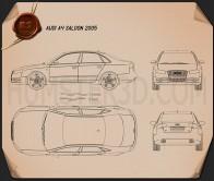 Audi A4 Saloon 2005 Blueprint