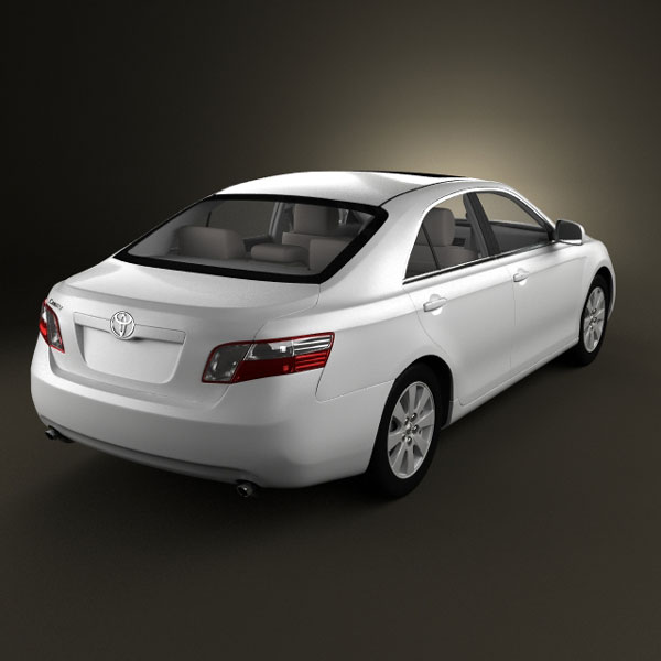 Toyota Camry (XV40) 2008 with HQ Interior 3d model