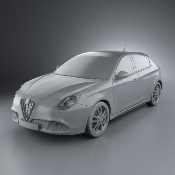 alfa romeo giulietta 2011 3d model hum3d. Black Bedroom Furniture Sets. Home Design Ideas
