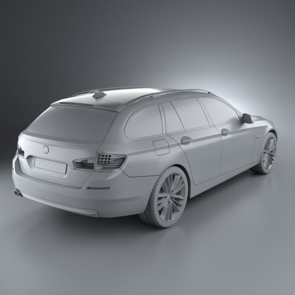 BMW 5 Series Touring 2011 3D Model