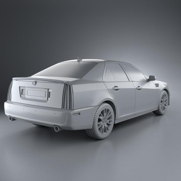 Cadillac Stsv: Cadillac STS 2010 3D Model