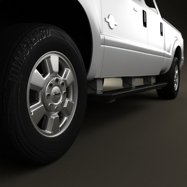 Ford Super Duty Crew Cab 2011 3D Model