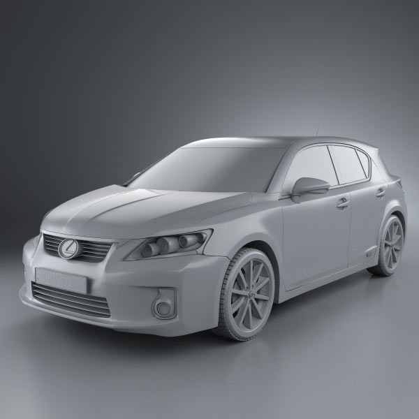 2011 Lexus Ct Suspension: Lexus CT 200h 2011 3D Model