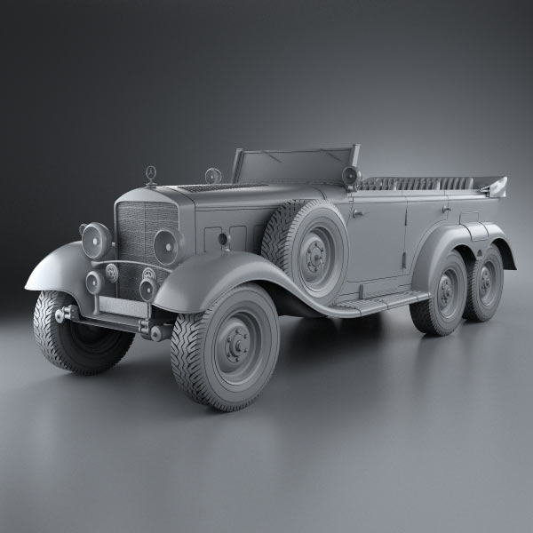 Mercedes benz g4 offroader 1939 3d model hum3d for Mercedes benz 1900 model