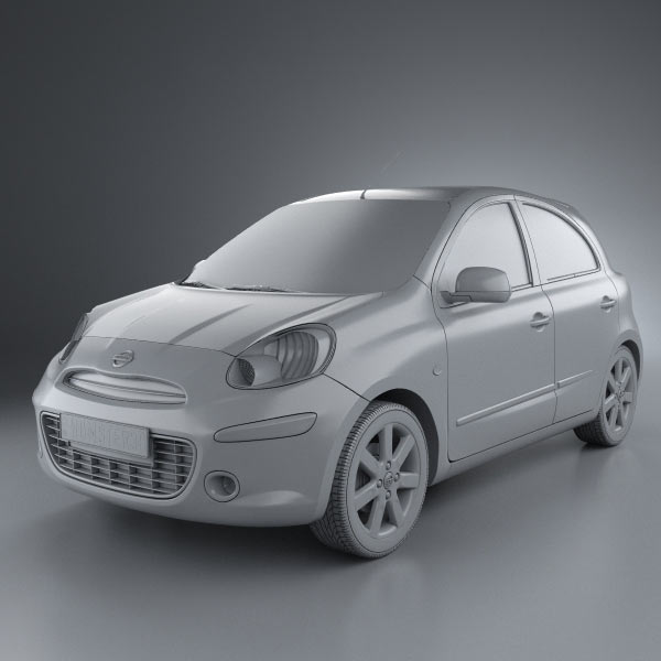nissan micra march 2011 3d model hum3d. Black Bedroom Furniture Sets. Home Design Ideas