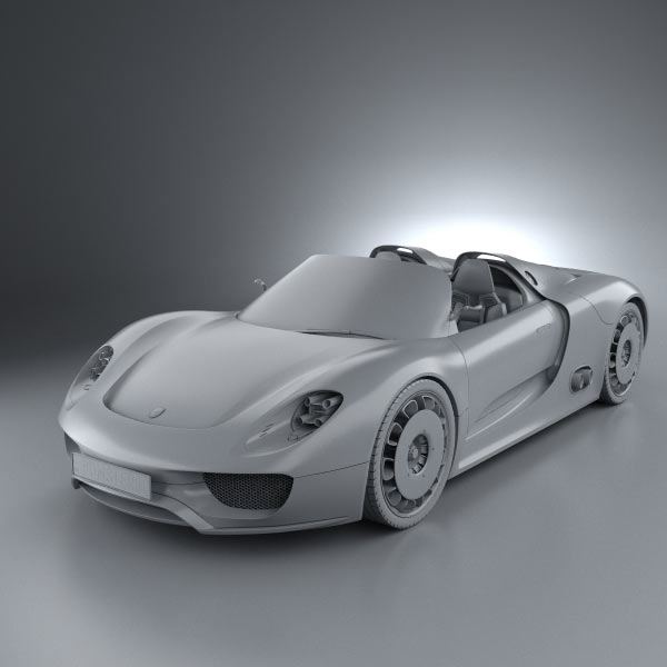 Porsche 918 Spyder: Porsche 918 Spyder 2011 3D Model