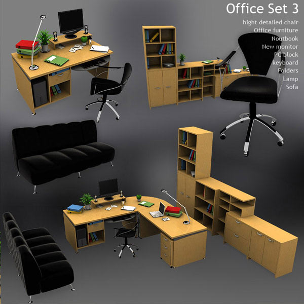 Office Set 3 3d model