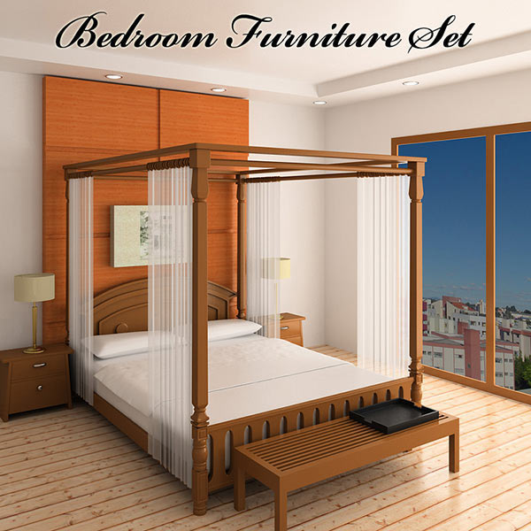 Bedroom Furniture 2 3d model