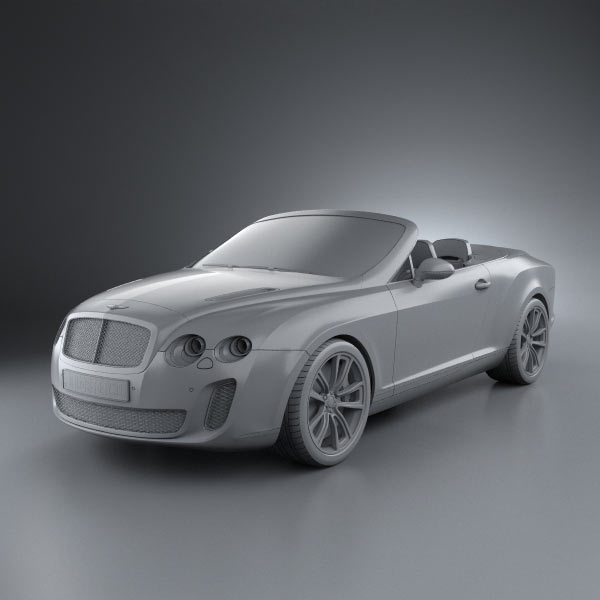 Bentley Continental Convertible: Bentley Continental Supersports Convertible 2010 3D Model