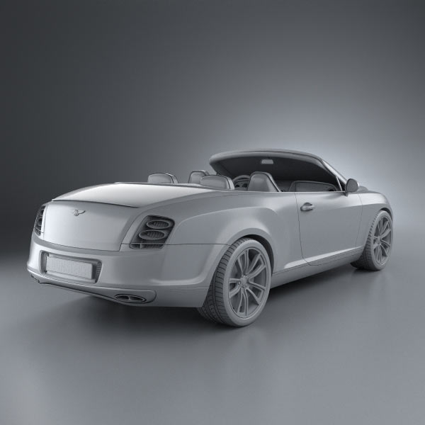 Bentley Continental Supersports Convertible 2010 3D Model