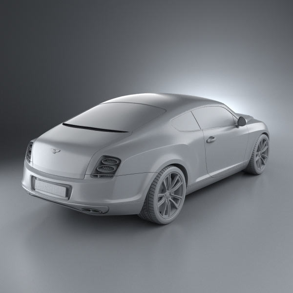 Bentley Sport Coupe Price: Bentley Continental Supersports Coupe 2010 3D Model