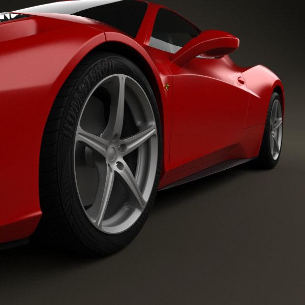 Ferrari F430 Scuderia 2009 3d Model For Download In: Ferrari 458 Italia 2011 3D Model