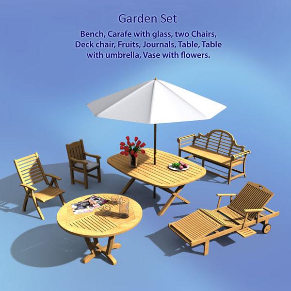 Garden Set 3d model