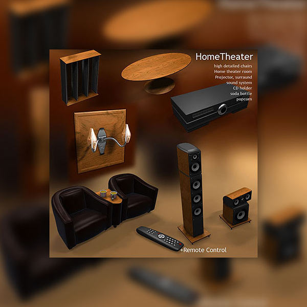 Home Theater 3d model