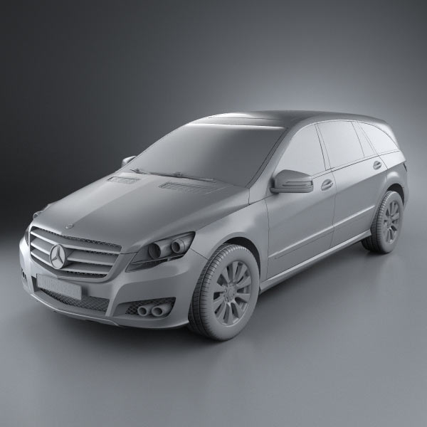 Mercedes Benz R Class 2011 3d Model Hum3d