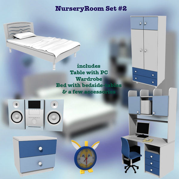 Nursery Room 02 Set 3d model