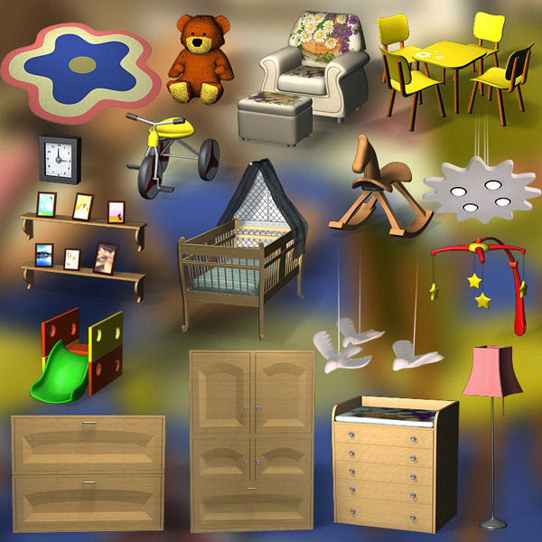 Nursery Room 01 3d model