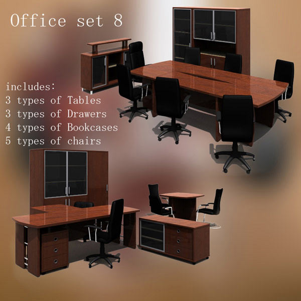 Office Set 08 3d model
