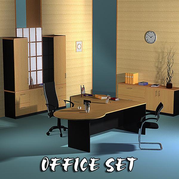 Office Set 17 3d model