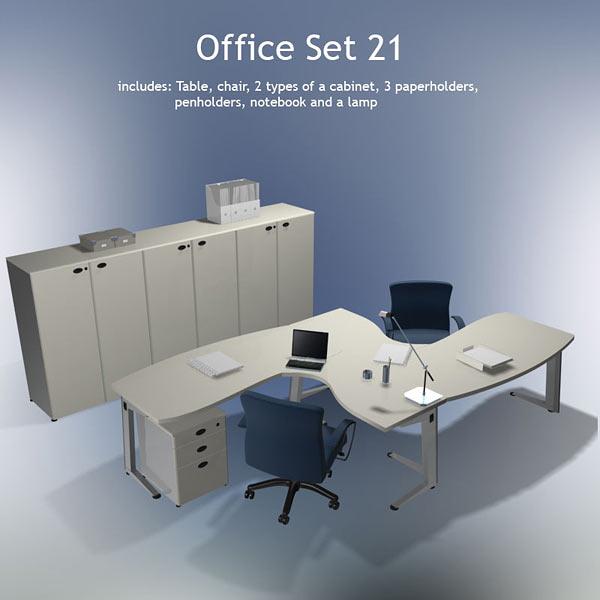 Office Set 21 3d model