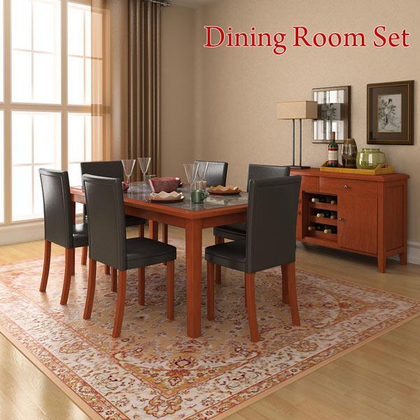 Dining room 1 set 3d model hum3d for Dining room 3d model