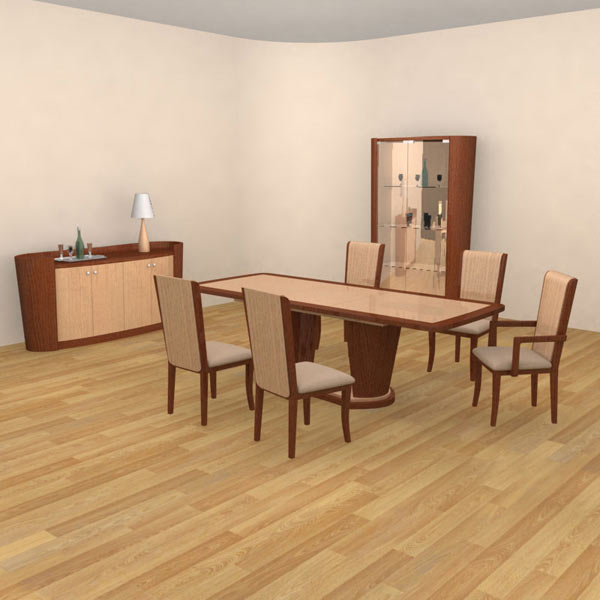 dining room 2 set 3d model hum3d
