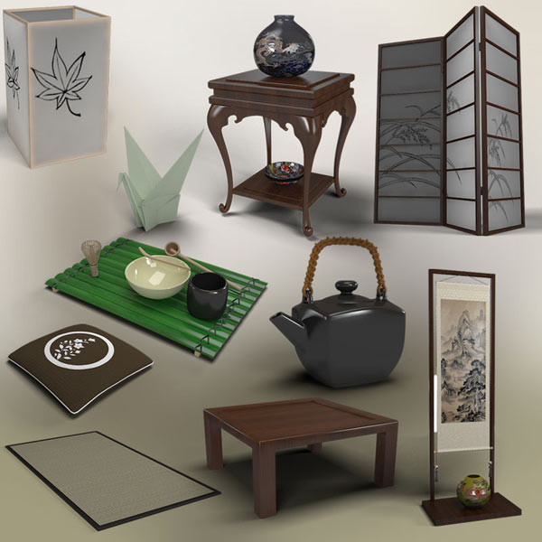 Japanese Tea Room 3d model