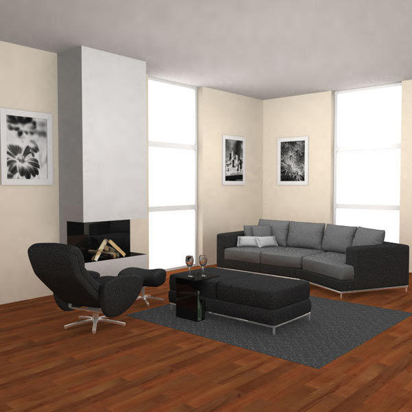 Living Room 03 Set 3d model