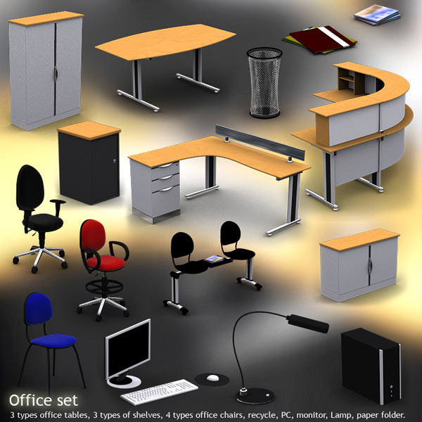 Office Set 12 3d model