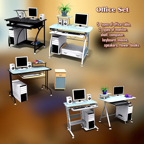 Office Set 13 3d model