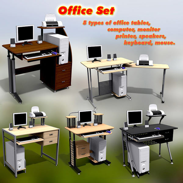 Office Set 14 3d model