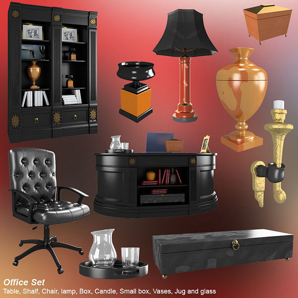 Office Set 19 Classic 3d model