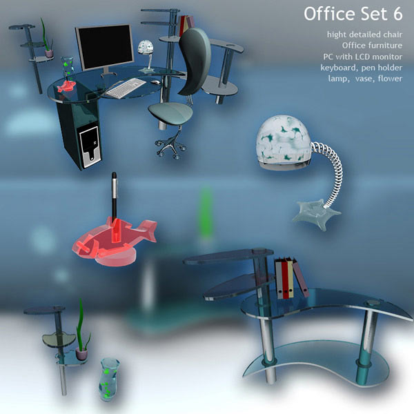 Office Set 6 3d model