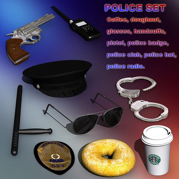 Police set 3d model
