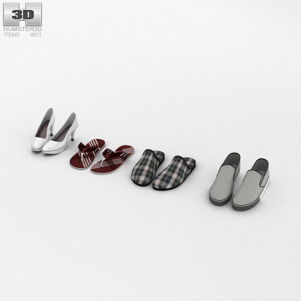 Footwear Summer Set 3d model