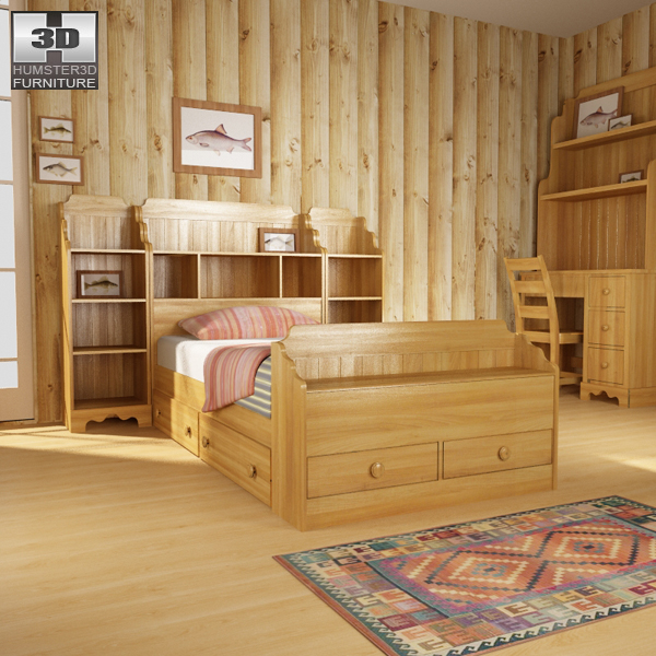 Bedroom Furniture 13 Set 3d model