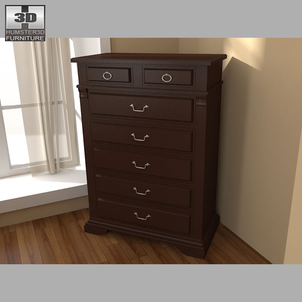 Bedroom Furniture 14 Set 3d model