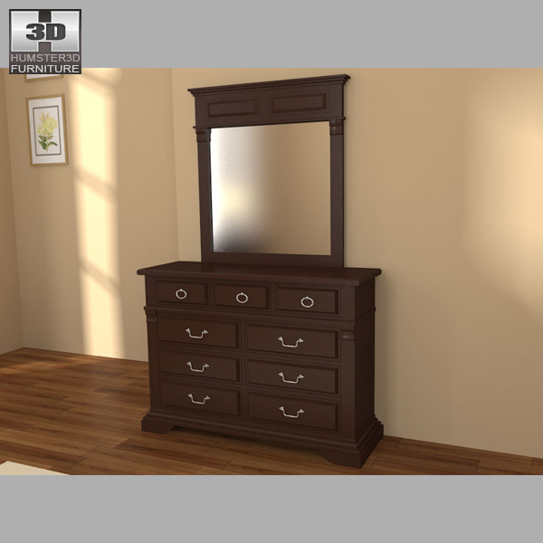 Bedroom furniture 14 set 3d model hum3d for Best rated bedroom furniture