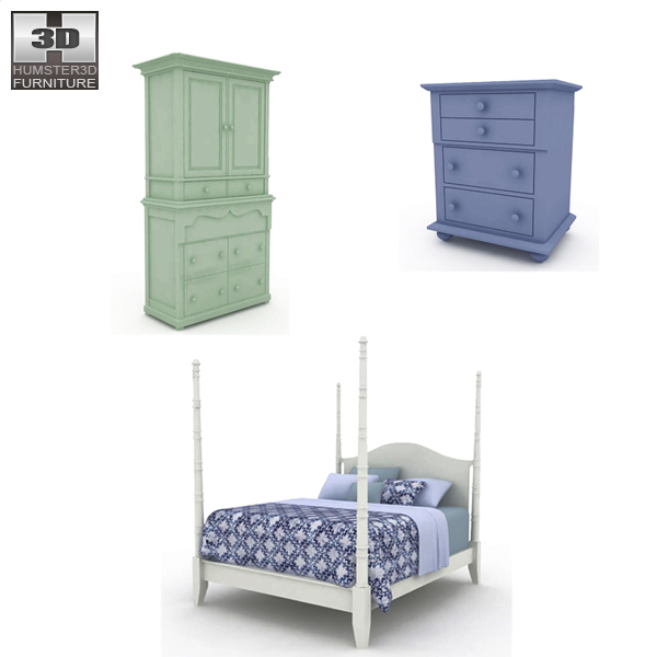 Bedroom Furniture 15 Set 3d Model Hum3d