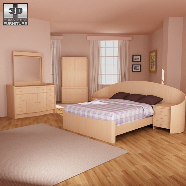 Bedroom Furniture 16 Set 3d Model Hum3d
