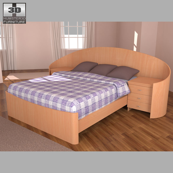 Bedroom furniture 16 set 3d model hum3d for Best rated bedroom furniture