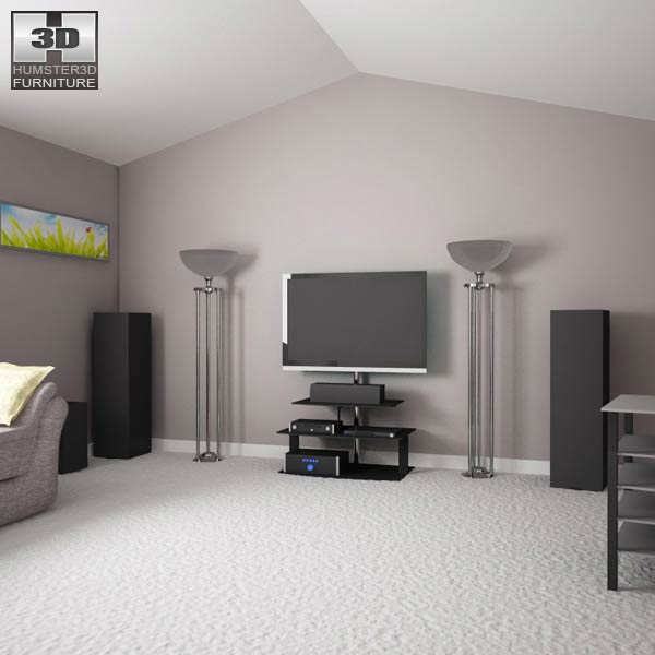 Home Theater Set 03 3d model