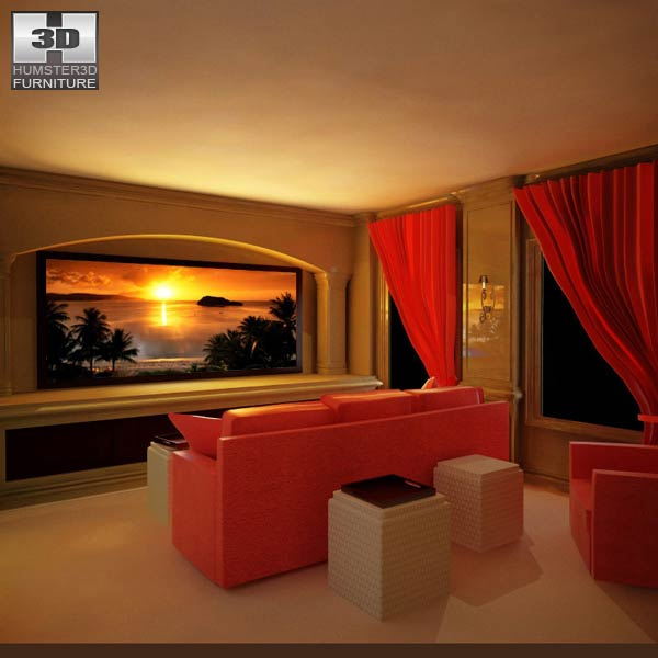Home Theater Set 04 3d model