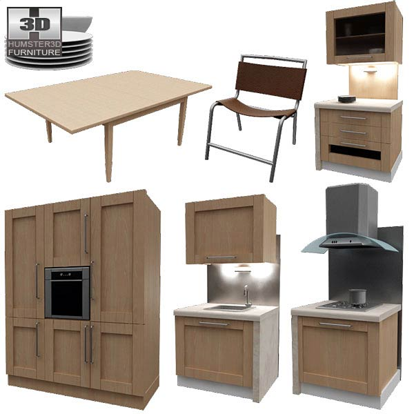 Kitchen set i1 3d model hum3d for Model kitchen set sederhana