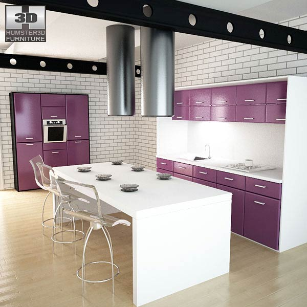 Kitchen Set I3 3d Model ...